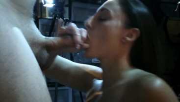 Melanie Hicks comes by to give me professional dick therapy in my theater:)