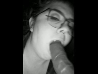 Sucking cock like a good little slut