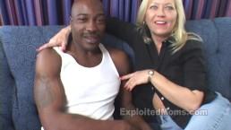 Blonde Mom Fucks a Big Black Cock in Mature Anal Video