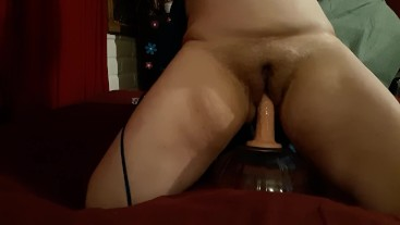 Amateur rides dildo cowgirl - mommy needs to cum