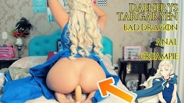 DAENERYS TARGARYEN SEX MACHINE - ANAL - BAD DRAGON CREAMPIE PUSSY