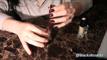 Sexy Burgundy Nails