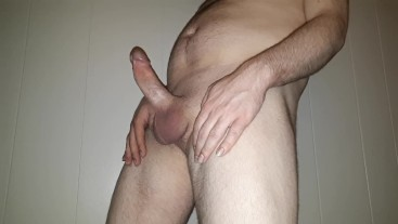 My Thick Cock Getting Hard!