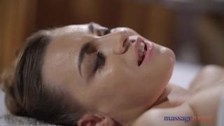 Massage Rooms Big tits brunette Josephine Jackson sensual blowjob and doggy
