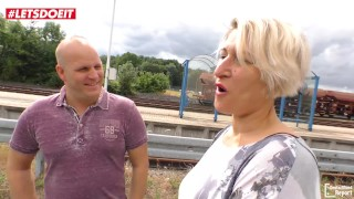 LETSDOEIT - German Amateur MILF Picked Up From Train Station