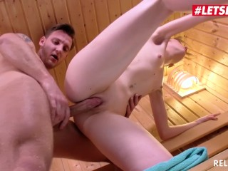 Sounds Of An Orgasm Fucking, LETSDOEIT- Skinny Teen Gets all Horny In The SaunA And Fucks Stranger B