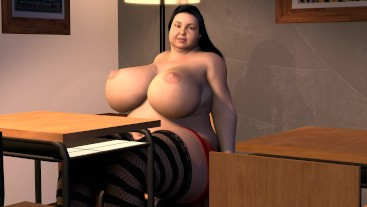 BBW Teen Weight Gain - Big Boob School Girl Fat Expansion