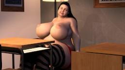 BBW Teen Weight Gain - Big Boob School Girl Fat Expansion