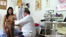 Old perverted gyno doc secretly records his young female patient on cam