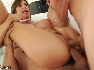 HardX Big Tits MILF Alexis Fawx FIRST Double Penetration
