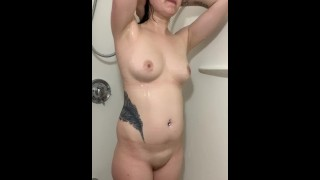 come join me while I take a shower before making a video