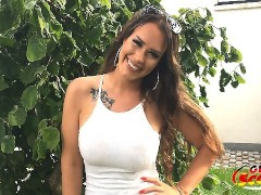 GERMAN SCOUT - Mega Titten Teen Sarah aus Bochum bei public Casting gefickt