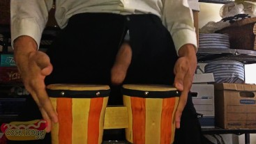 Playing the Drums With my Cock
