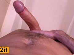 Loud Guy Moaning While Masturbating Big Cock - Intense Shaking Orgasm 4K