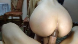 Young wife gets fucked in ass. Big cock.