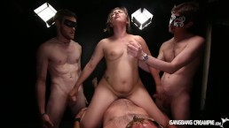Courtney Loxx first ever Gangbang Creampie video