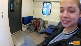 Blowjob In The Train Real Public