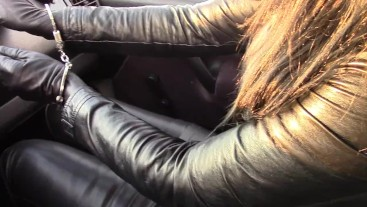 Smoking cigarette in the car