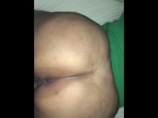 EBONY BBW GETS FUCKED FROM THE BACK BY BBC AND GETS NUTTED ON