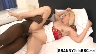 Euro granny gets interracially dicked down in her high heels