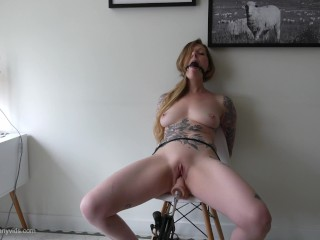 Certain Orgasm Abuse – Tied Up, Ballgagged, and Squirting!