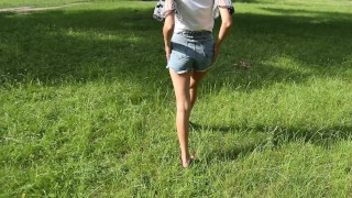 Russian cute teen sucks dick in the woods - FiaMurr