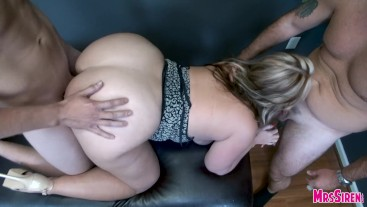 Wife Fucked Down by Two Strangers