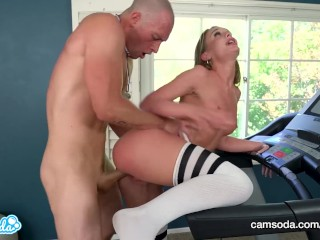 Teen Step sister with big ass tricked into sex by step-brother