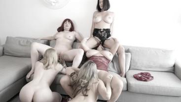 Carmen Valentina Has A Pussy Buffet 5 Girl Orgy
