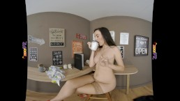 SOPHIA SMITH 3D COFFEE SHOP VIRTUAL REALITY STRIP TEASE