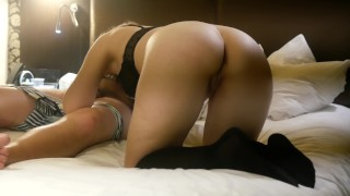 Spanking and squirting in Tinder date's hotel room