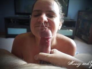 Married Couple POV Blowjob and Facial – Missy and George