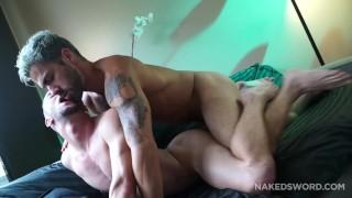 Adam Ramzi shoves his fat cock in Colt River's bubble butt