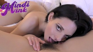 Mindi Mink and Ella Knox take turns licking each other