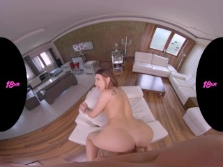 18VR Busty Teen Alyssia Kent Will Drain Your Balls For Spying On Her