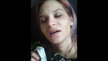 shy but kinky Girl is cumming just by cum swallowing