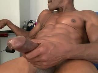 BBC cock Stroking