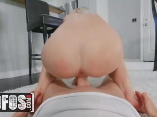 MOFOS – Cute blonde Alex Jett slurps cock pov