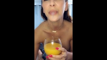 Cherie DeVille Treats her real stepson to breakfast in bed
