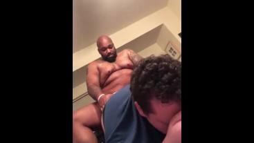 White chub moans from raw bbc