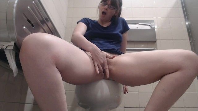 British blonde squirting in public restroom fucking older