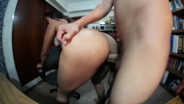 Michelle gets fucked by her neighbor after doing an online broadcast, she g