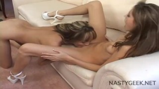 two super sluts lesbicate between themselves