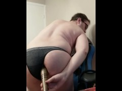 Playing with my baseball bat in my GF's panties
