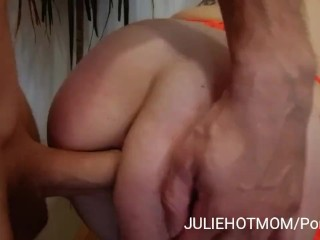 Acrobatic fuck 3: After deep anal sex, my stepmom wants facial cumshot