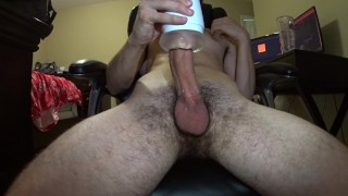 Porno Tube - Bearded-Guy Hung Hairy Guy Explodes Into His Fleshlight And Shows Cum