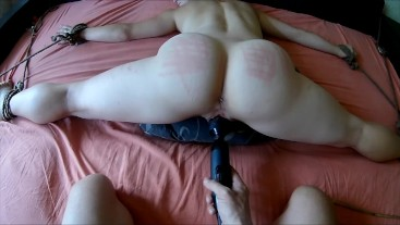tied to bed and get hard fuck pov