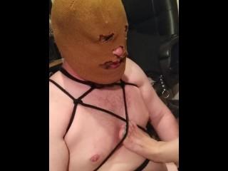 Apple butt slut secret cam catches slut get naked before making client bust his nut h