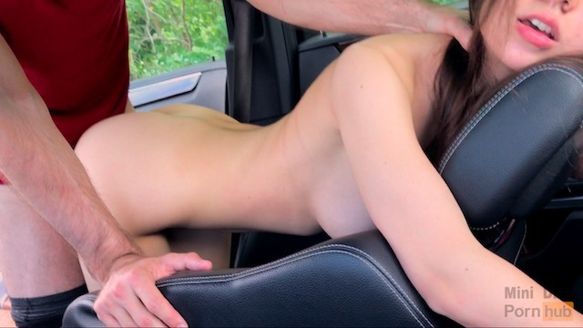 Penis leans to the right solution - He fucked me hard during the trip right in the car - mini diva