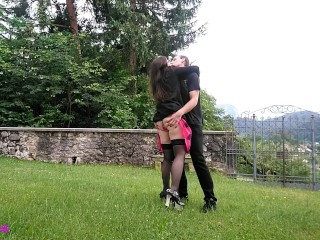 Phat Girlz Pussy Very Horny Wife First Time In Chastity Belt (Outside, Outdoors, Nature)